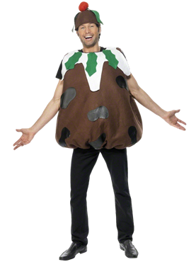 Adult Christmas Pudding Costume Couples Costume