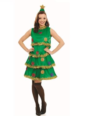 Adult Christmas Tree Lady Costume