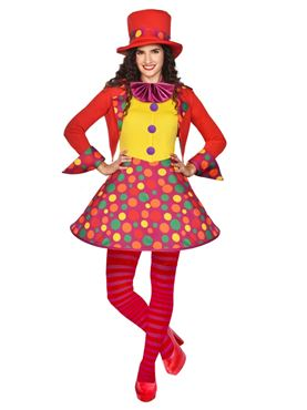 Adult Circus Clown Costume Couples Costume