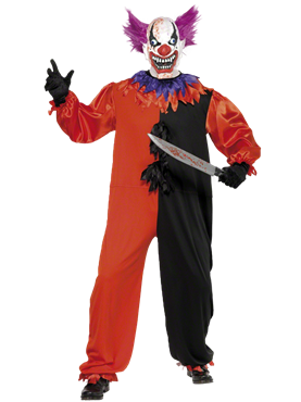 Adult Cirque Sinister Bo Bo the Clown Costume Couples Costume