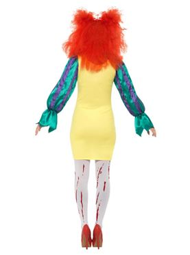 Adult Classic Horror Clown Lady Costume - Side View
