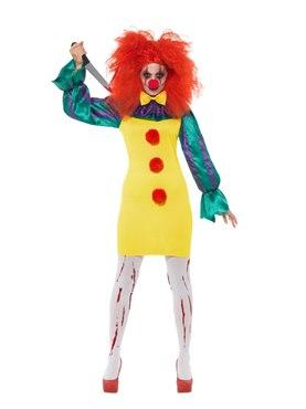 Adult Classic Horror Clown Lady Costume