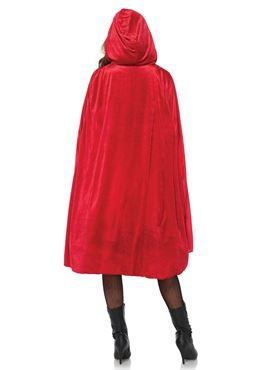 Adult Classic Red Riding Costume - Back View