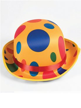 Adult Clown Bowler Hat