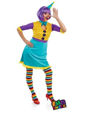 Adult Clown Girl Costume - Side View