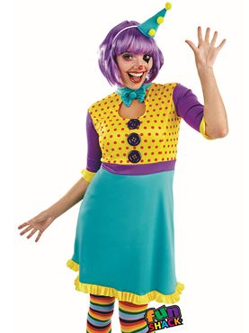 Adult Clown Girl Costume - Back View