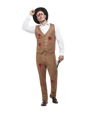 Adult Clyde Zombie Gangster Costume Couples Costume