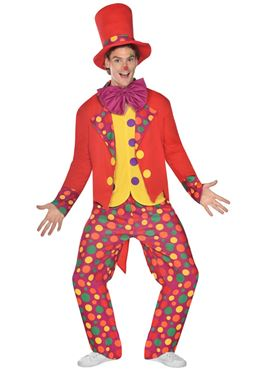 Adult Colourful Clown Costume Couples Costume