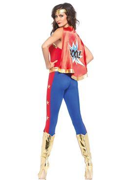 Adult Comic Book Hero Costume - Back View