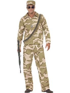 Adult Commando Army Costume Couples Costume