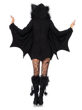 Adult Cozy Bat Costume - Back View