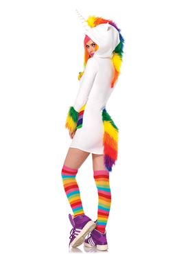 Adult Cozy Unicorn Costume - Back View