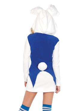 Adult Cozy White Rabbit Costume - Back View