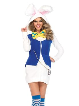 Adult Cozy White Rabbit Costume