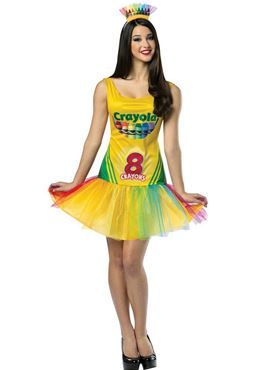 Adult Crayola Crayon Box Tutu Dress Costume
