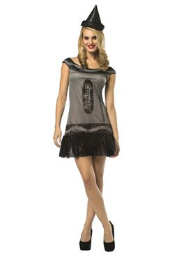 Adult Crayola Crayon Glitzy Deep Space Dress Costume