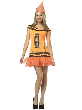 Adult Crayola Crayon Glitzy Sunburst Dress Costume