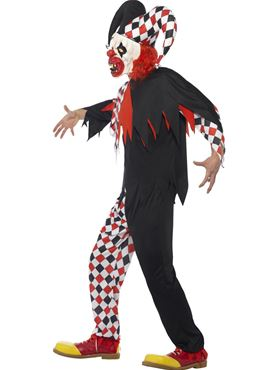 Adult Crazed Jester Costume - Back View