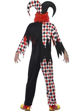 Adult Crazed Jester Costume - Side View