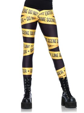 Adult Crime Scene Leggings