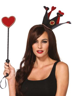 Adult Crown Headband & Heart Scepter