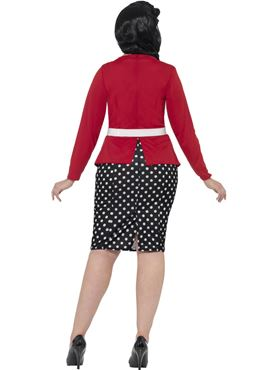 Adult Curves 50's pin Up Costume - Side View