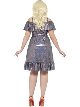 Adult Plus Size Curves 70s Disco Diva Costume - Side View