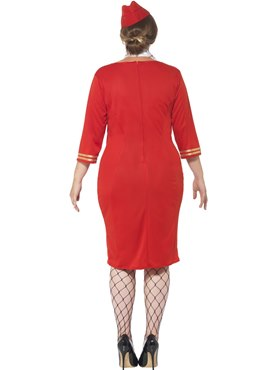 Adult Curves Air Hostess Costume - Side View