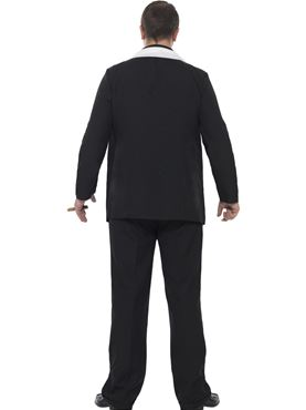 Adult Plus Size Gangster Costume - Side View