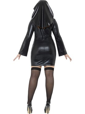 Adult Curves Nun Costume - Side View