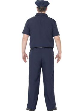 Adult Plus Size NYC Cop Costume - Side View