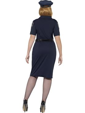 Adult Plus Size Curves NYC Cop Costume - Side View