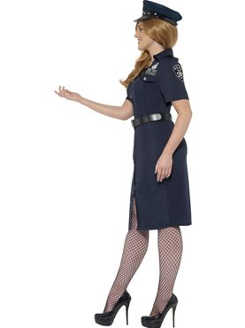 Adult Plus Size Curves NYC Cop Costume - Back View