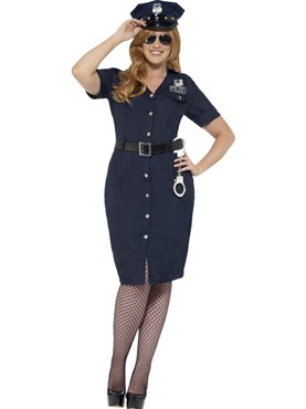 Adult Plus Size Curves NYC Cop Costume Couples Costume