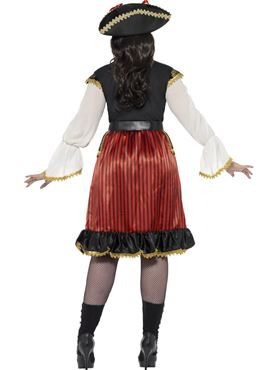 Adult Curves Pirate Lady Costume - Side View