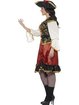 Adult Curves Pirate Lady Costume - Back View