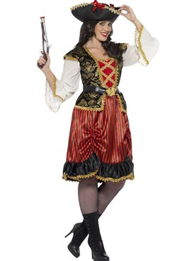 Adult Curves Pirate Lady Costume Couples Costume