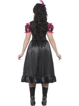 Adult Plus Size Curves Sassy Saloon Costume - Side View