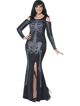 Adult Curves Skeleton Costume