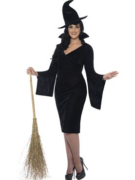 Adult Curves Witch Costume