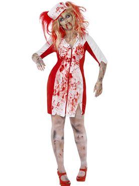 Adult Curves Zombie Nurse Costume