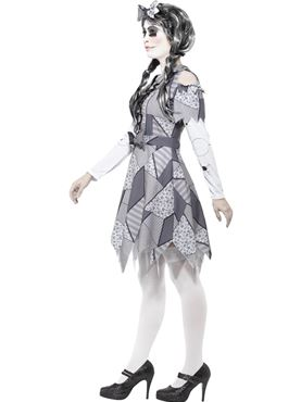 Adult Damaged Doll Costume - Back View