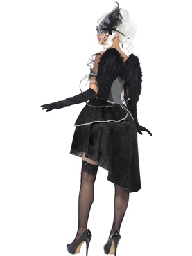 Adult Dark Angel Masquerade Costume - Side View