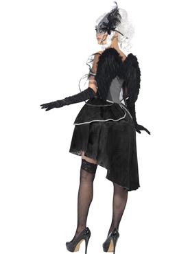 Adult Dark Angel Masquerade Costume - Side View