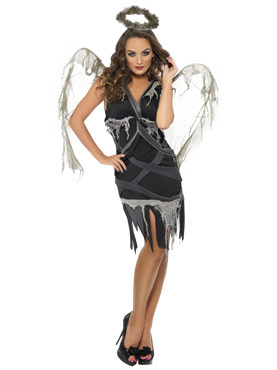 Adult Dark Fallen Angel Costume Couples Costume