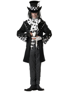 Adult Dark Mad Hatter Costume Couples Costume