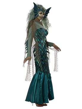 Adult Dark Sea Siren Costume - Back View