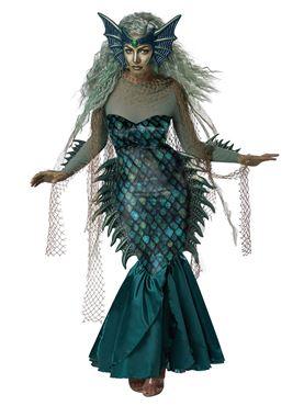 Adult Dark Sea Siren Costume