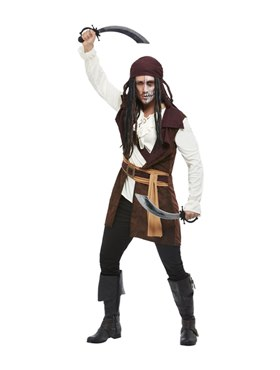 Adult Dark Spirit Pirate Costume Couples Costume