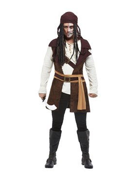 Adult Dark Spirit Pirate Costume - Back View